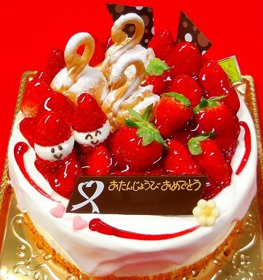 こだわりのバースデーケーキ