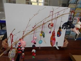 抽選笹飾り