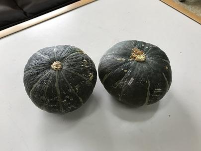 戴いたかぼちゃ