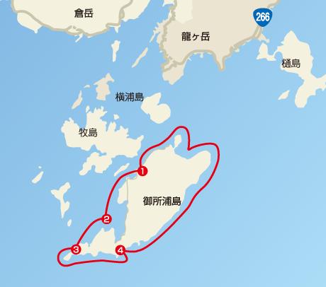 クルージングコースマップの図