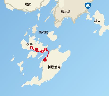 サイクリングコースマップの図