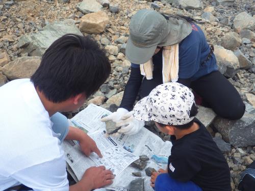 ゴールデンウィーク化石教室の写真