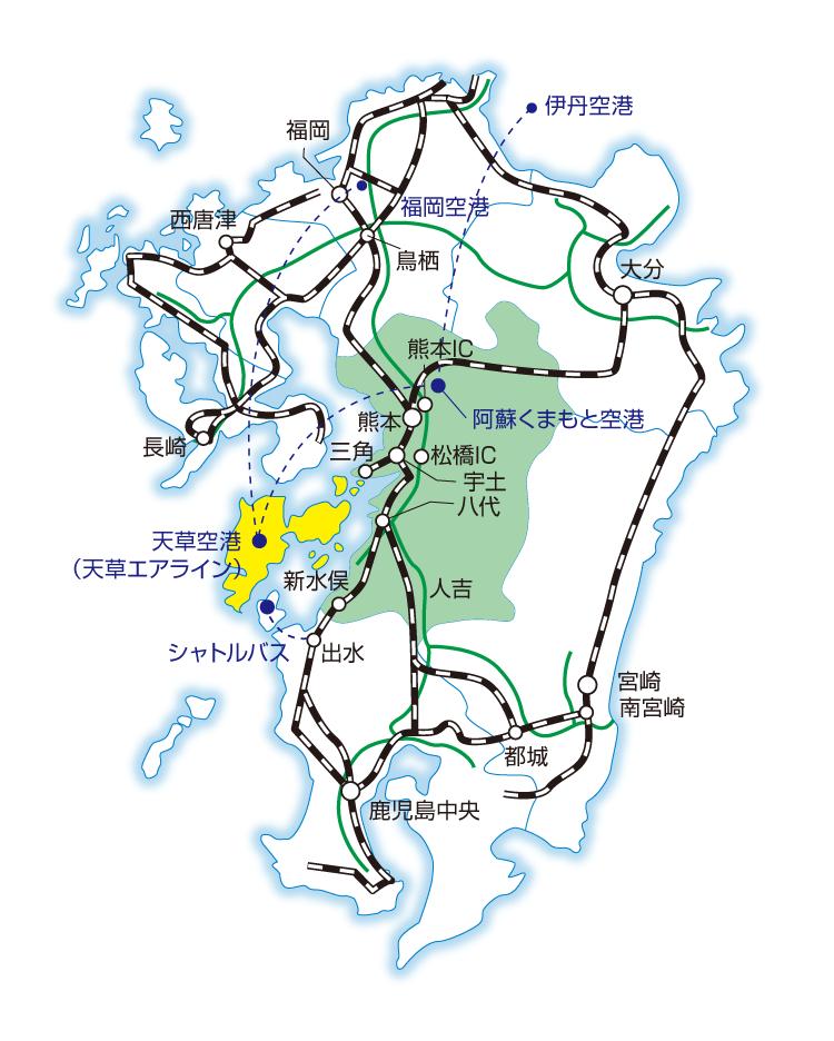 九州の地図