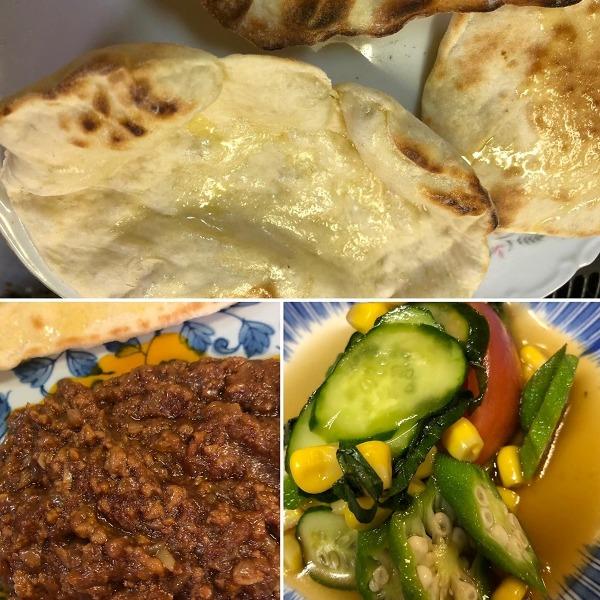 ●キーマカレー&ナン&美味しいサラダ☆チャンプ