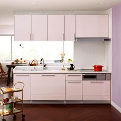 キッチン ピンク3