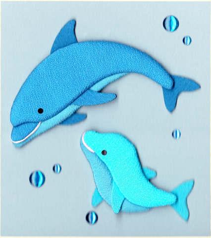 「イルカ」押絵