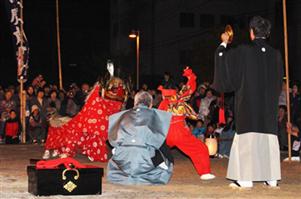 三社祭り 魚貫住吉神社の獅子舞