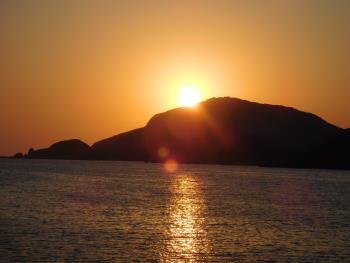 令和元年の夕陽
