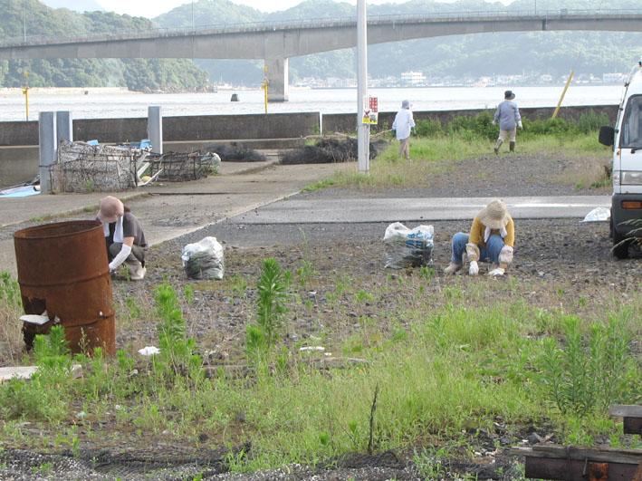 州の田清掃中