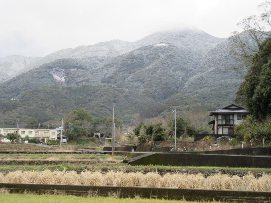倉岳山初冠雪!