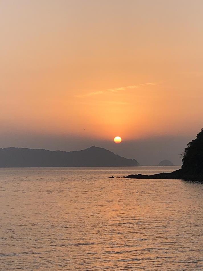御所浦の夕日