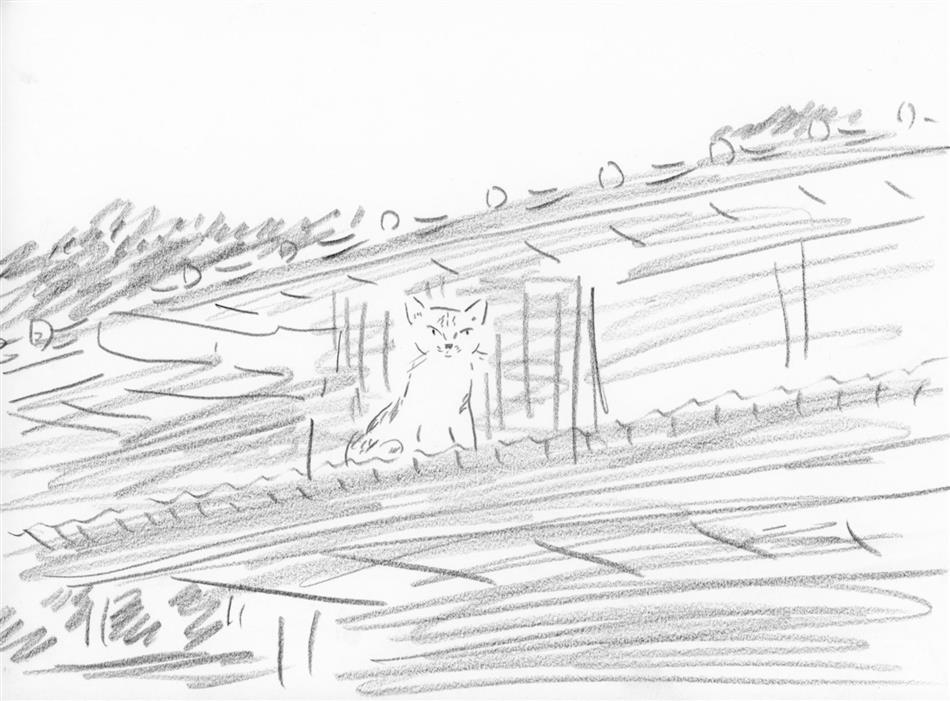 38位⑧ 屋根の上に猫(1匹)