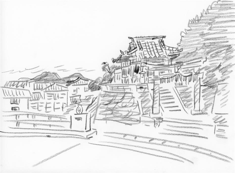 69位㉚ 祗園橋横?の神社