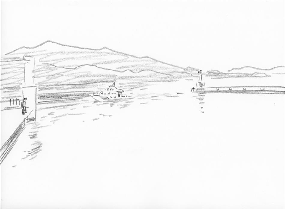 69位⑯ 崎津の港と船と人(1人)