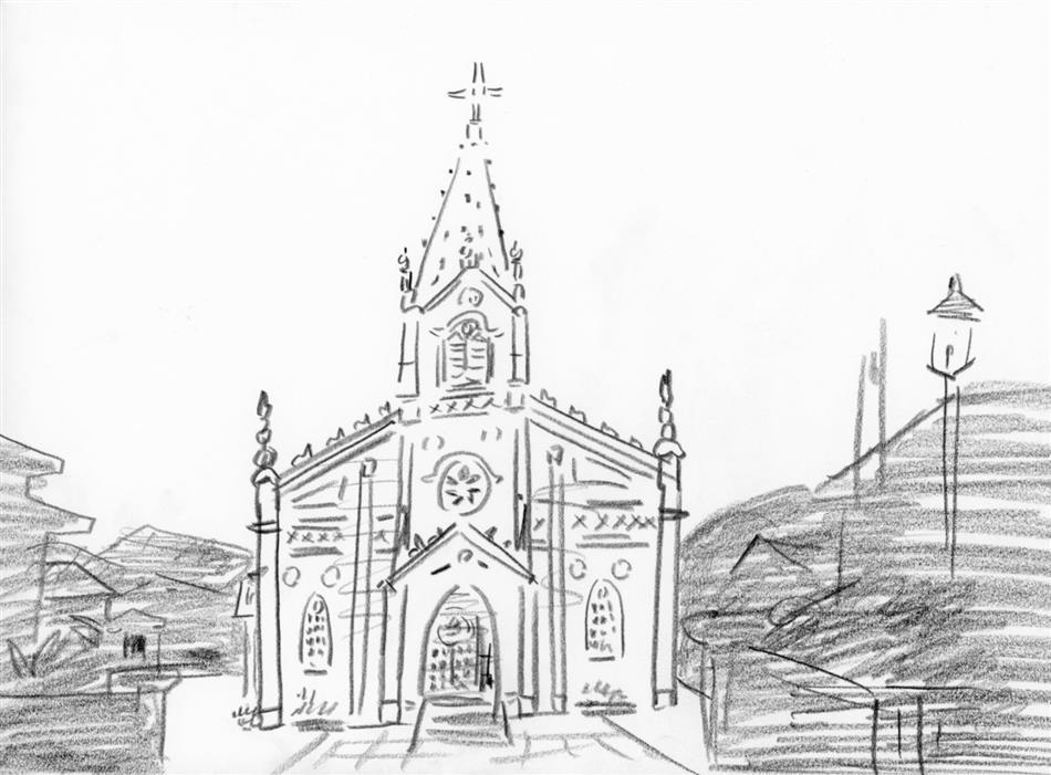 1位 崎津天主堂(正面から)