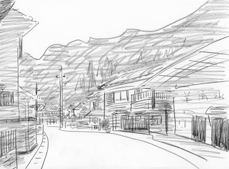 69位⑬ 崎津の街並
