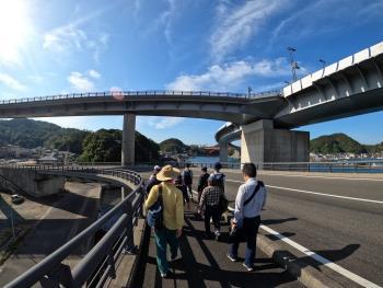 視察(南天草フットパス「ハイヤ大橋コース」)