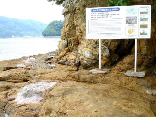 べんてんじまの恐竜足跡発見地