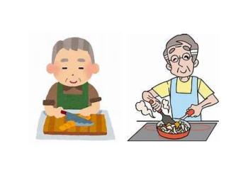 亀場地区 下浦男料理教室イラスト画像