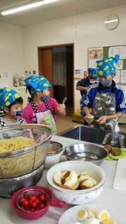本渡北地区小学生料理実習画像1
