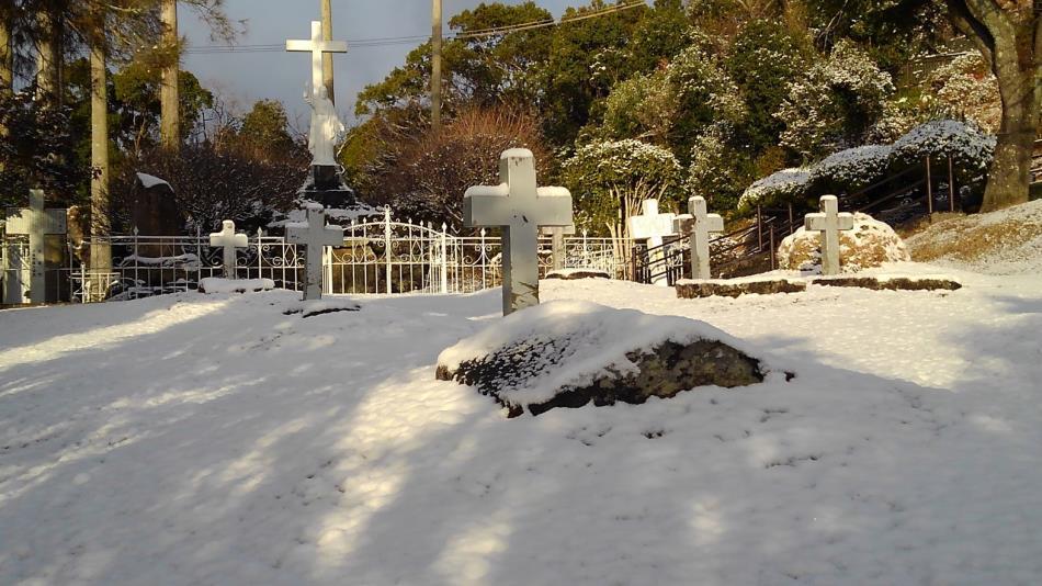 積雪(キリシタン墓地)