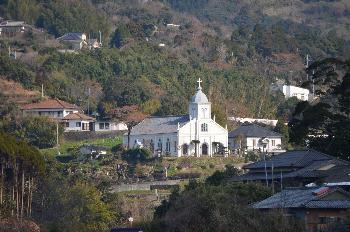 学校からの大江天主堂